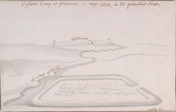 Caesar's camp at Pancras, 1 Aug. 1750, in its primitive State